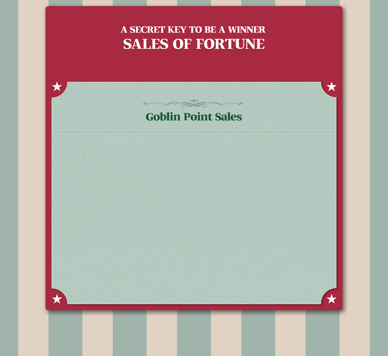 Sales of Fortune